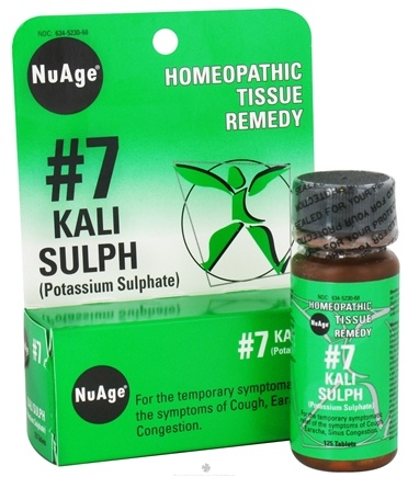 DROPPED: NuAge - #7 Potassium Sulphate Homeopathic Tissue Remedy - 125 Tablets CLEARANCE PRICED