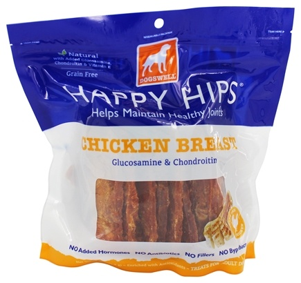 DROPPED: Dogswell - Happy Hips With Glucosamine & Chondroitin Chicken Breast Jerky - 15 oz.