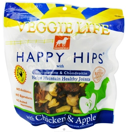 DROPPED: Dogswell - Veggie Life Happy Hips With Glucosamine & Chondroitin Chicken & Apple Jerky - 15 oz. CLEARANCE PRICED