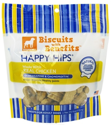 DROPPED: Dogswell - Happy Hips Biscuits With Benefits With Glucosamine & Chondroitin Chicken - 4 oz. CLEARANCE PRICED