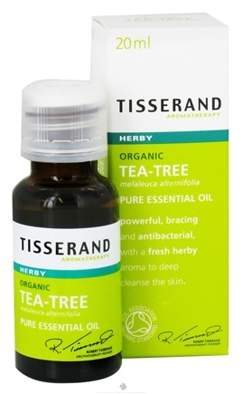 DROPPED: Tisserand Aromatherapy - Pure Essential Oil Tea-Tree Organic Herby - 0.68 oz.