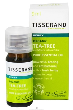 DROPPED: Tisserand Aromatherapy - Pure Essential Oil Tea-Tree Organic Herby - 0.32 oz. CLEARANCE PRICED
