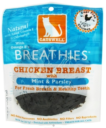 DROPPED: Dogswell - Catswell Breathies With Mint & Parsley Chicken Breast Jerky - 2 oz.