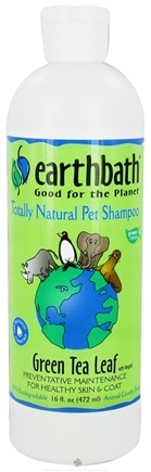 DROPPED: Earthbath - Pet Shampoo Green Tea Leaf With Awapuhi - 16 oz. CLEARANCE PRICED