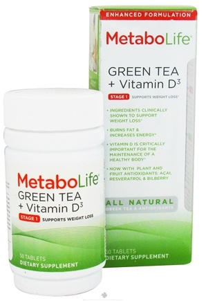 DROPPED: MetaboLife - Green Tea + Vitamin D3 Stage 1 Weight Loss Support - 50 Tablets