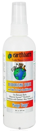 DROPPED: Earthbath - Between Bath Spritz Deodorizing With Skin & Coat Conditioners Mango Tango - 8 oz. CLEARANCE PRICED