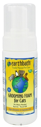 DROPPED: Earthbath - Waterless Grooming Foam For Cats Hypo-Allergenic & Fragrance Free - 4 oz. CLEARANCE PRICED