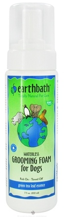 DROPPED: Earthbath - Waterless Grooming Foam For Dogs Green Tea Leaf Essence - 7.5 oz. CLEARANCE PRICED