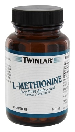 DROPPED: Twinlab - L-Methionine 500 mg. - 30 Capsules