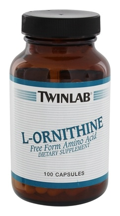 DROPPED: Twinlab - L-Ornithine 500 mg. - 100 Capsules