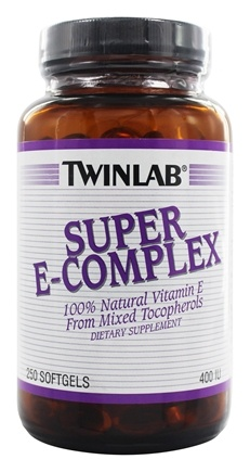 DROPPED: Twinlab - Super E-Complex 400 IU - 250 Softgels