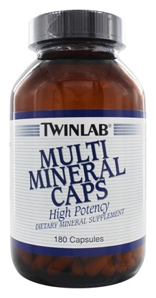 Twinlab - Multi Mineral Caps - 180 Capsules LUCKY PRICE