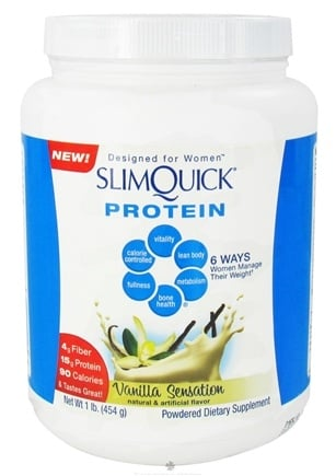 DROPPED: SlimQuick - Protein Designed For Women Vanilla Sensation - 1 lb.