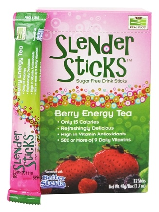 NOW Foods - Drink Sticks Sugar Free Berry Energy Tea - 12 Stick(s)