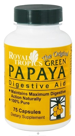 DROPPED: Royal Tropics - The Original Green Papaya Digestive Aid - 75 Capsules CLEARANCE PRICED