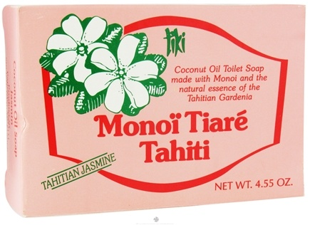 DROPPED: Monoi Tiare Tahiti - Coconut Oil Soap Bar Tahitian Jasmine - 4.55 oz. CLEARANCE PRICED