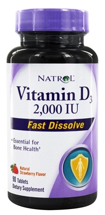 Natrol - Vitamin D3 Fast Dissolve Strawberry 2000 IU - 90 Mini-Tab(s)