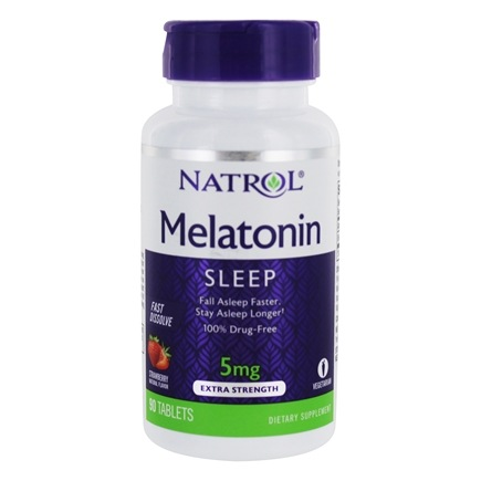 Natrol - Melatonin Fast Dissolve Strawberry 5 mg. - 90 Tablets