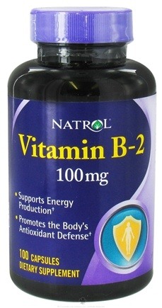 DROPPED: Natrol - Vitamin B2 100 mg. - 100 Capsules