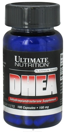 DROPPED: Ultimate Nutrition - Platinum Series DHEA Dehydroepiandrosterone Supplement 100 mg. - 100 Capsules