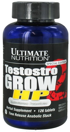DROPPED: Ultimate Nutrition - Special Edition TestostroGrow 2 HP Time Release Anabolic Stack - 126 Tablets CLEARANCE PRICED