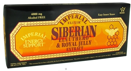 DROPPED: Imperial Elixir - Siberian Eleuthero Extract & Royal Jelly - 10 Bottle(s) CLEARANCE PRICED