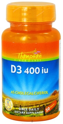 DROPPED: Thompson - Vitamin D3 As Cholecalciferol 400 IU - 30 Tablets CLEARANCE PRICED