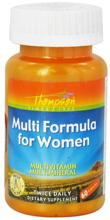 DROPPED: Thompson - Multi Formula For Women - 60 Capsules CLEARANCE PRICED