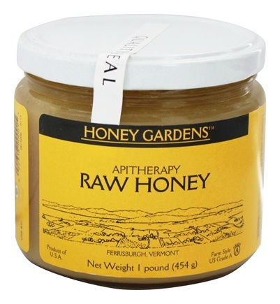 Honey Gardens Apiaries - Apitherapy Raw Honey - 1 lb.