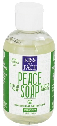 DROPPED: Kiss My Face - Peace Soap 100% Natural All Purpose Castile Soap Grassy Mint - 3.4 oz. CLEARANCE PRICED