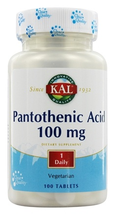 DROPPED: Kal - Pantothenic Acid 100 mg. - 100 Vegetarian Tablets