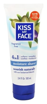 Kiss My Face - Moisture Shave Fragrance Free - 3.4 oz.