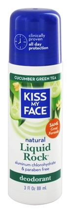 Kiss My Face - Liquid Rock Roll-On Natural Deodorant Cucumber Green Tea - 3 oz.