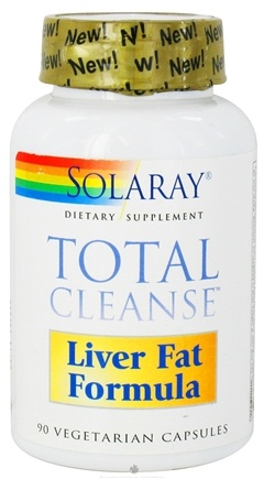 DROPPED: Solaray - Total Cleanse Liver Fat Formula - 90 Vegetarian Capsules