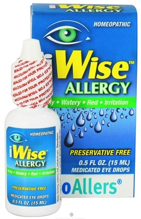 DROPPED: bioAllers - iWise Allergy Homeopathic Medicated Eye Drops - 0.5 oz.