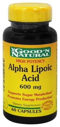 Good 'N Natural - Alpha Lipoic Acid 600 mg. - 60 Capsules