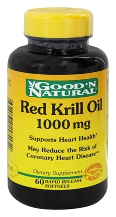 DROPPED: Good 'N Natural - Red Krill Oil 1000 mg. - 60 Softgels