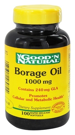 DROPPED: Good 'N Natural - Borage Oil 1000 mg. - 100 Softgels