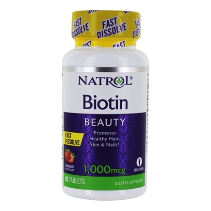 Natrol - Biotin Fast Dissolve Strawberry Flavor 1000 mcg. - 90 Tablets