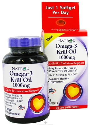 DROPPED: Natrol - Omega-3 Neptune Krill Oil 1000 mg. - 30 Softgels