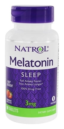 Natrol - Melatonin Fast Dissolve Strawberry 3 mg. - 90 Tablets