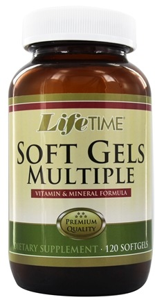 LifeTime Vitamins - Soft Gel Multiple Vitamin & Mineral Formula - 120 Softgels
