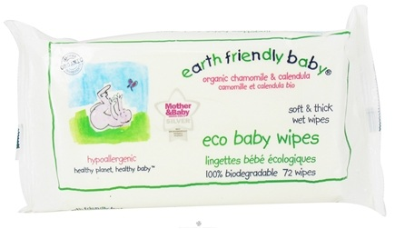 DROPPED: Earth Friendly Baby - Eco Baby Wipes - 72 Wipe(s)