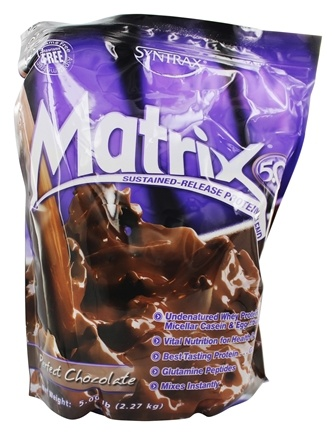 Syntrax - Matrix 5.0 Sustained-Release Protein Blend Perfect Chocolate - 5.32 lbs.