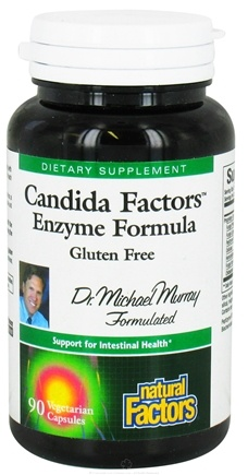 DROPPED: Natural Factors - Candida Factors Enzyme Formula - 90 Vegetarian Capsules CLEARANCE PRICED