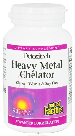 DROPPED: Natural Factors - Detoxitech Heavy Metal Chelator - 90 Vegetarian Capsules