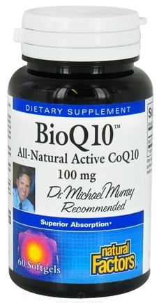 DROPPED: Natural Factors - BioQ10 All-Natural Active CoQ10 100 mg. - 60 Softgels