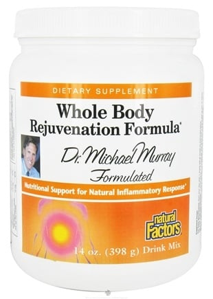 DROPPED: Natural Factors - Whole Body Rejuvenation Formula Drink Mix - 14 oz. CLEARANCE PRICED