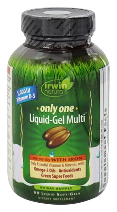 Irwin Naturals - Only One Liquid-Gel Multi with Iron - 60 Softgels
