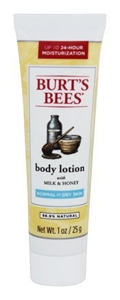 DROPPED: Burt's Bees - Body Lotion Naturally Nourishing Milk & Honey - 1 oz.